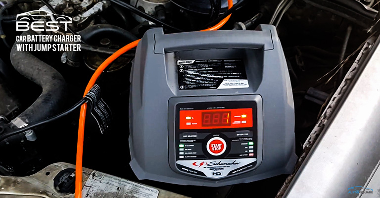 car battery charger with jump starter
